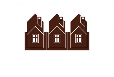 Building company abstract icon