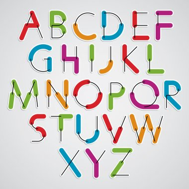 cartoon rounded letters