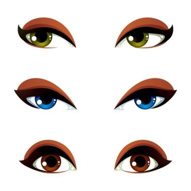 Female eyes expressing