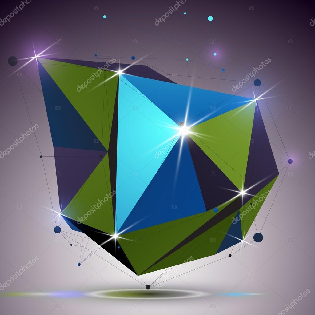 Aszimmetrikus 3d technológia fényes alakja a csatlakoztatott vonalakat és  pontokat. Lattice világos mérnöki elem 2a6dcc3a15