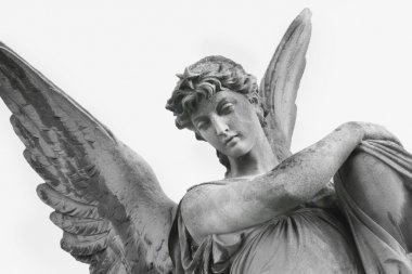 Guardian Angel as a symbol of human security (fragment of statue