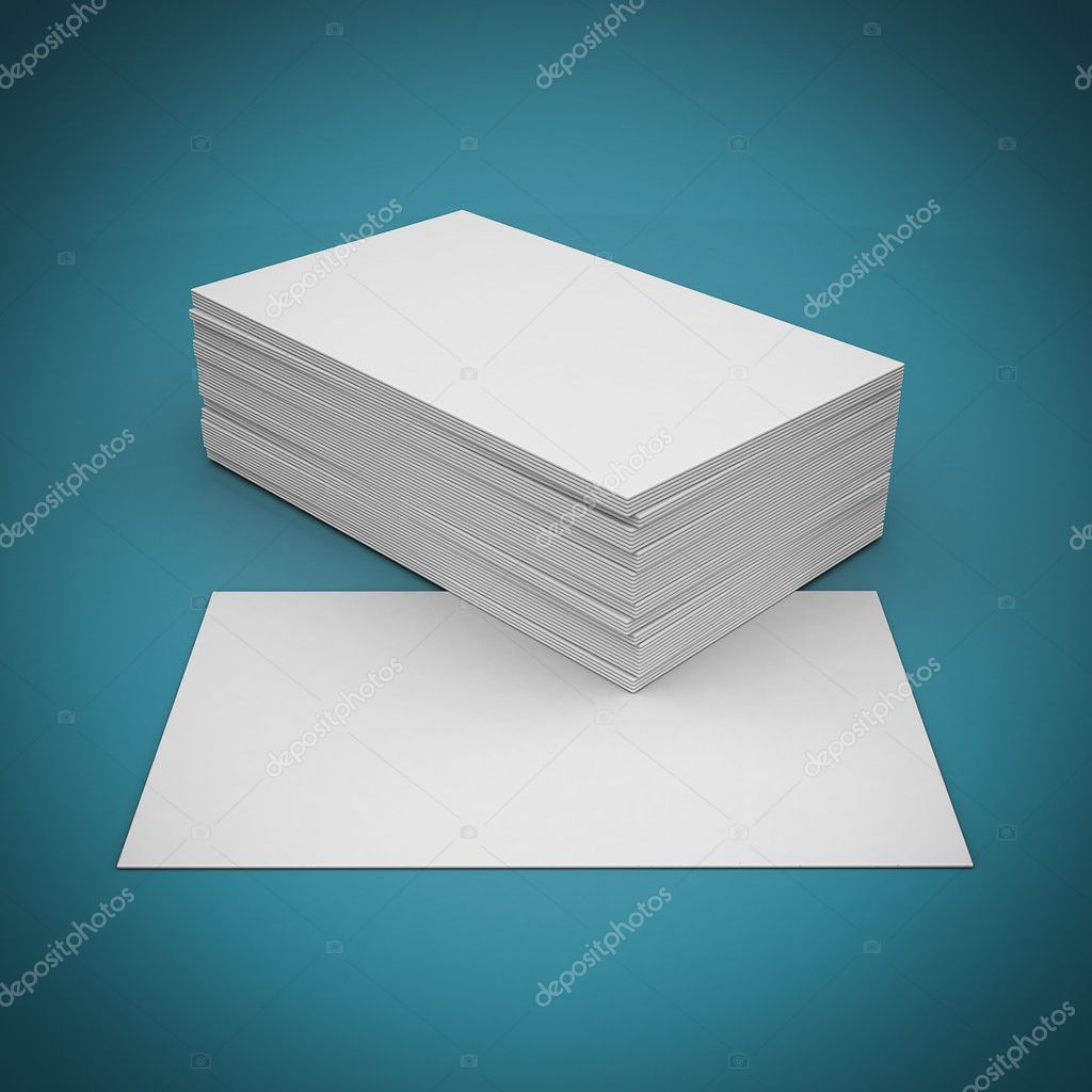 Business cards blank stock photo mrgarry 56825959 business cards blank mockup template blue background photo by mrgarry reheart Image collections