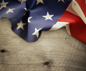 Americká vlajka na dřevo
