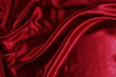 Silky red fabric
