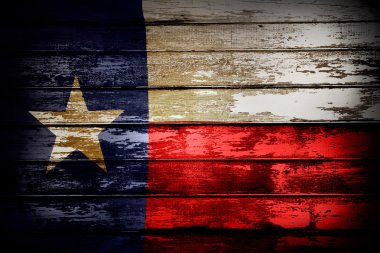 Texas flag on boards