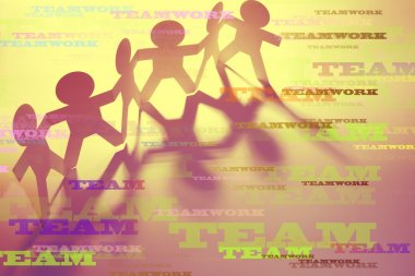 Teamwork words and team