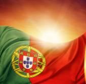 zászló és az ég