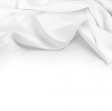 Closeup of rippled silk fabric stock vector