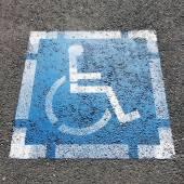 Fotografie Symbol für Behinderte