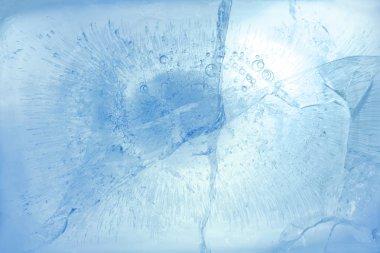 Cracks in ice