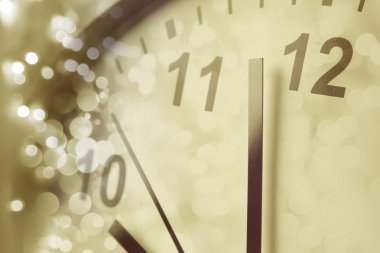 Clock and blurs