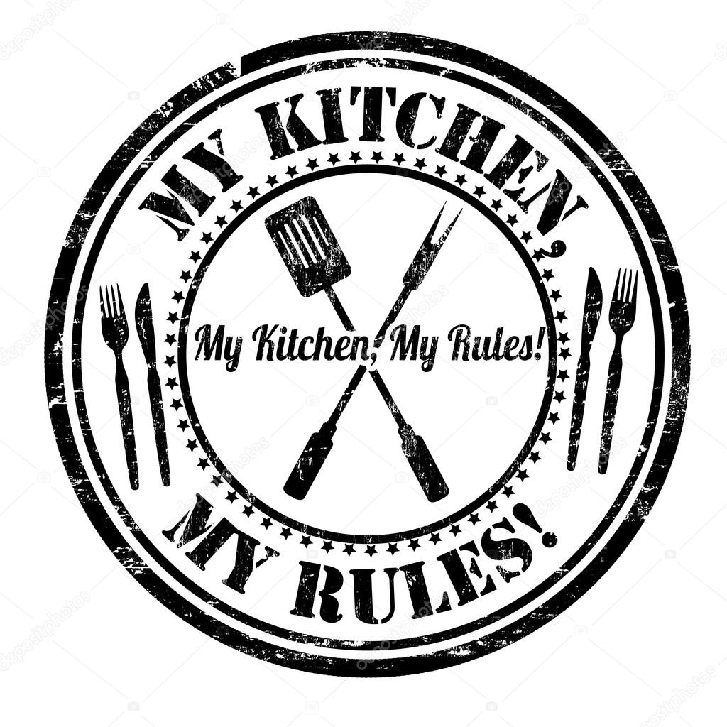 My kitchen my rules stamp — Stock Vector © roxanabalint #112219526