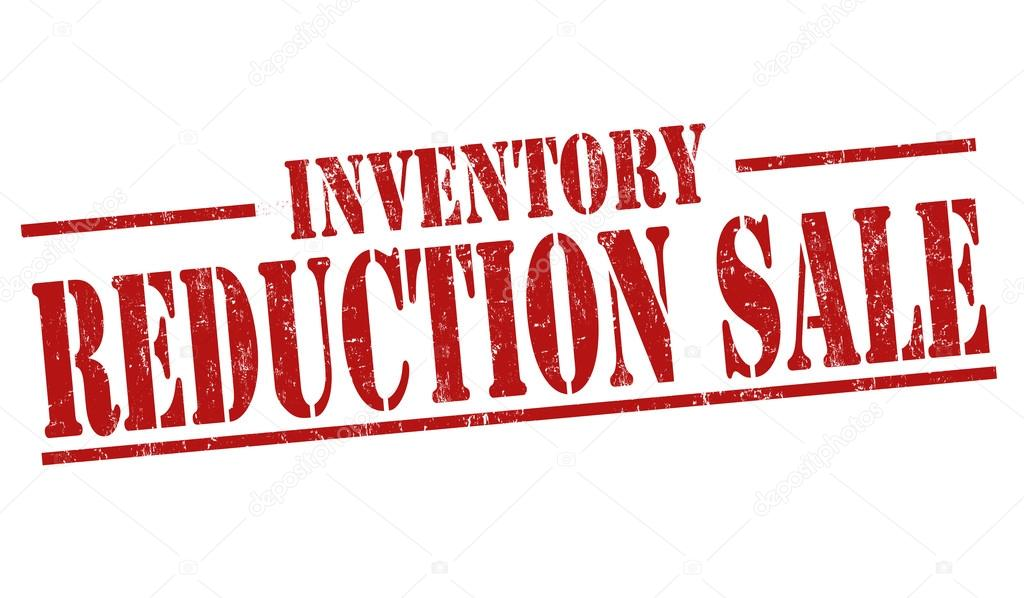 Inventory reduction sale stamp or sign — Stock Vector © roxanabalint ...