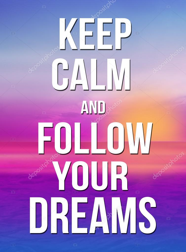 Quote Bubble Cute Keep calm and follow y...