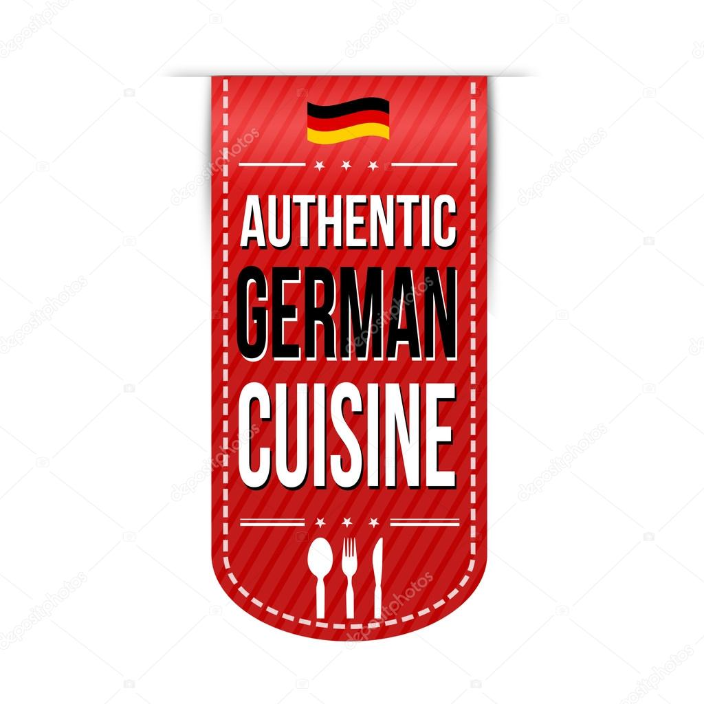 diseño de banner de auténtica cocina alemana — Archivo Imágenes ...