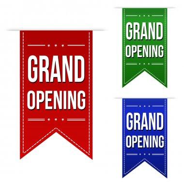 Grand opening banner design set
