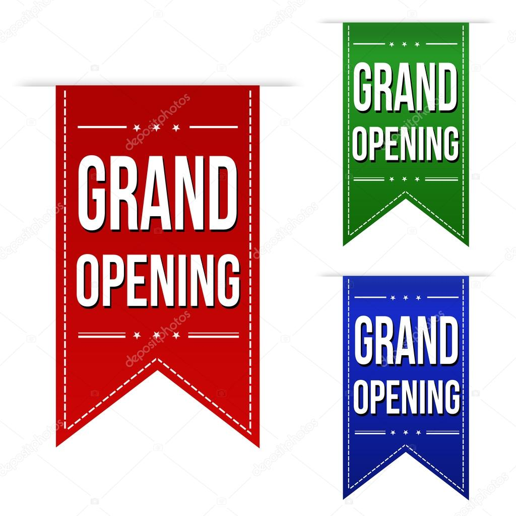 grand opening banner design set  u2014 stock vector  u00a9 roxanabalint  53677557