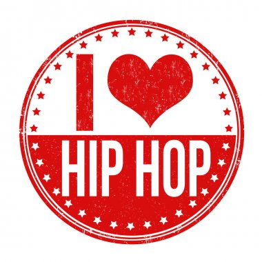 I love hip hop stamp