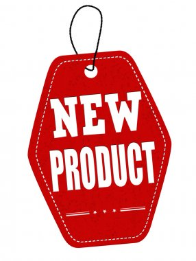 New product red leather label or price tag