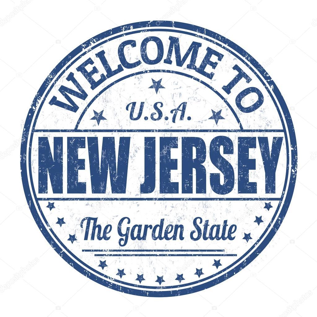 Welcome To New Jersey Grunge Rubber Stamp On White Background Vector Illustration Vektor Von Roxanabalint