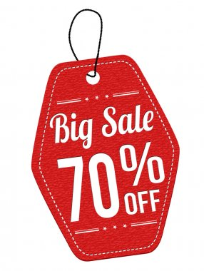 Big sale 70 off red leather label or price tag