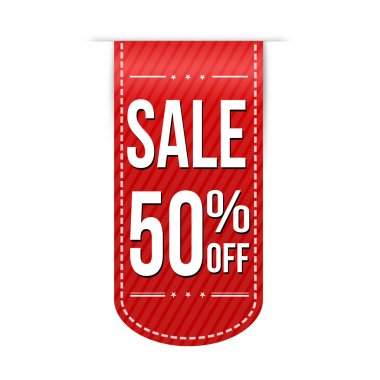 Sale 50 off banner design