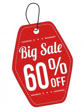 Big sale 60 off red leather label or price tag