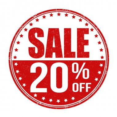 Sale 20 off stamp