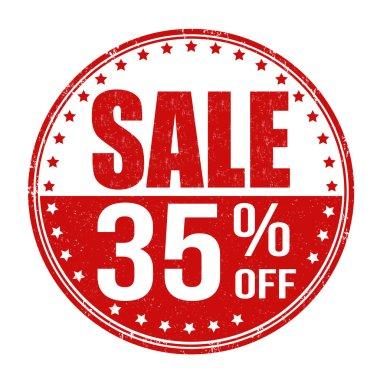 Sale 35 off stamp