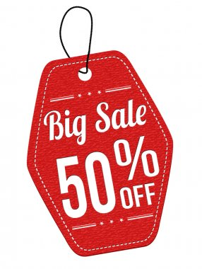 Big sale 50 off red leather label or price tag