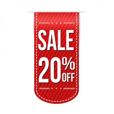 Sale 20 off banner design