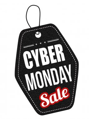 Cyber Monday black leather label or price tag