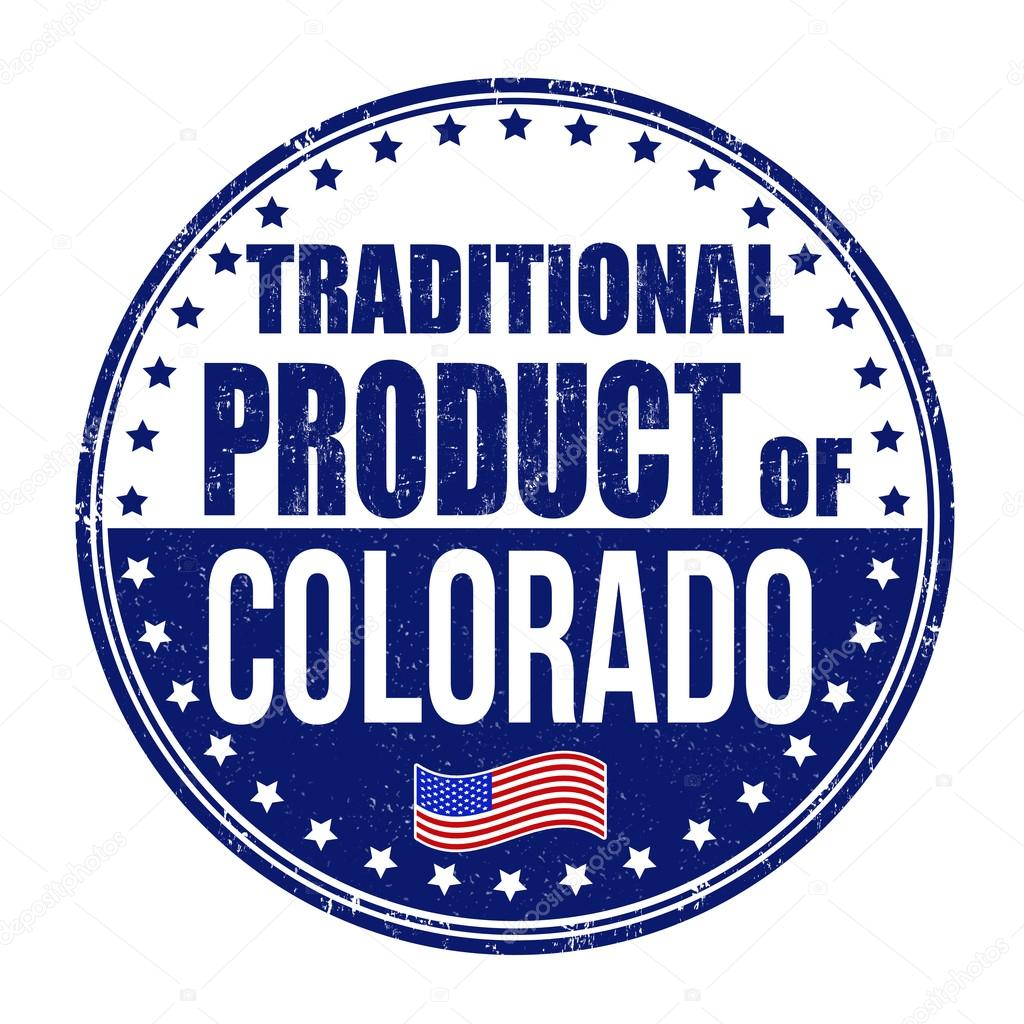 Traditional Product Of Colorado Stamp Stock Vector 58019665