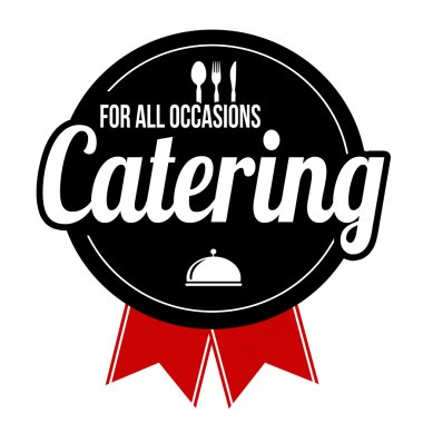 Catering label or sign