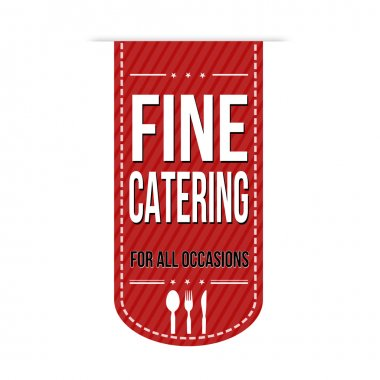 Fine catering banner design