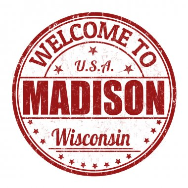 Welcome to Madison stamp