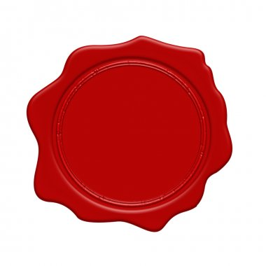 Red wax stamp