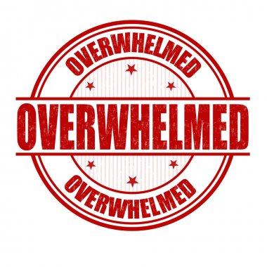 Overwhelmed stamp