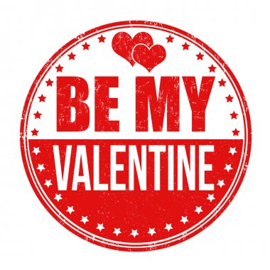 Be my valentine stamp
