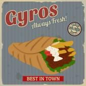 Fotografie Gyros vintage plakát