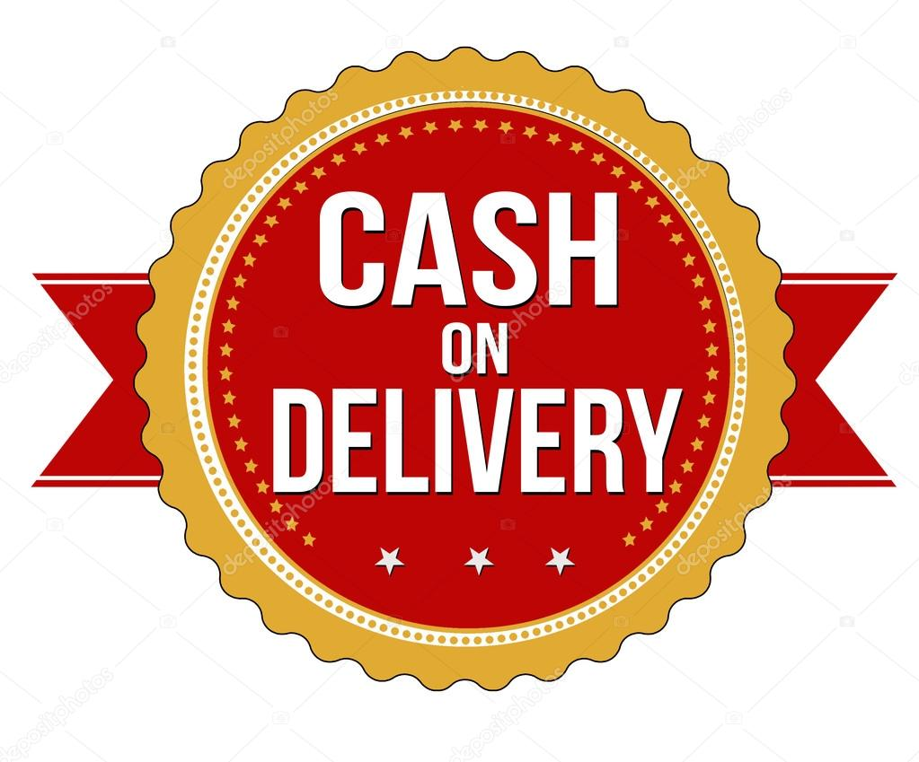 Cash on delivery label, sticker or stamp — Stock Vector ...