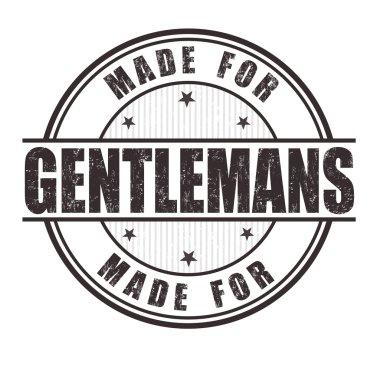 Made for gentlemans stamp