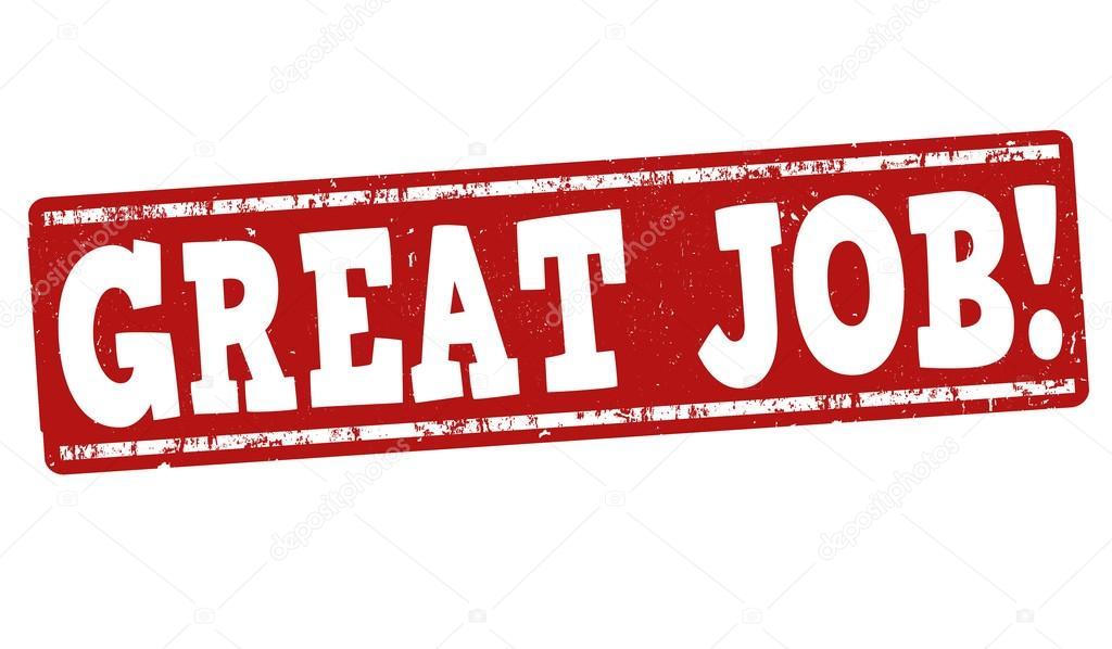 great job stamp stock vector roxanabalint 73898737