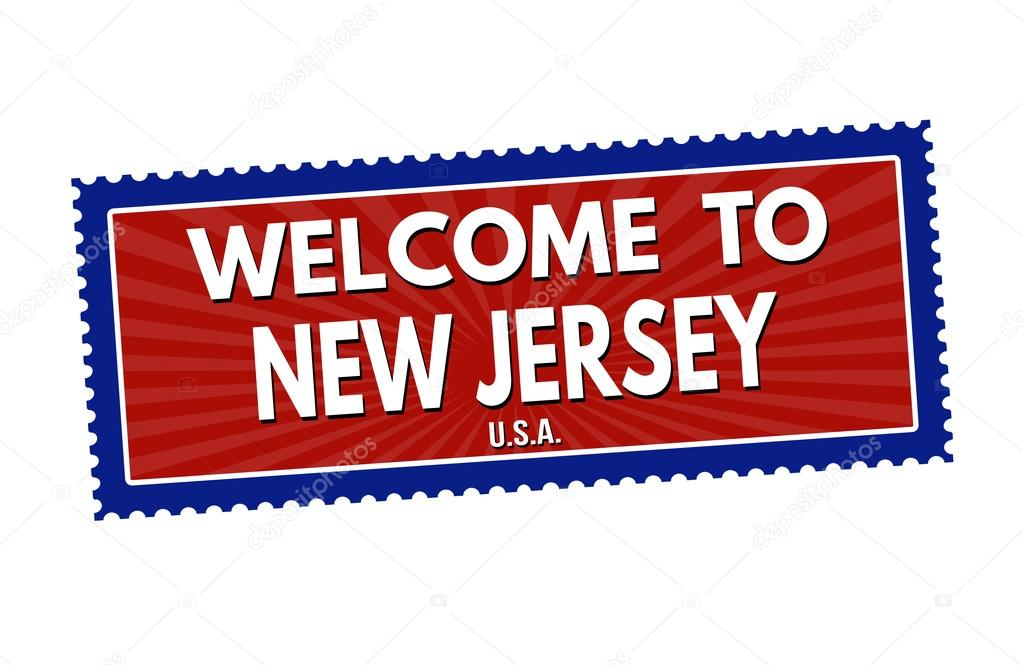 Welcome To New Jersey Stamp Stock Vector
