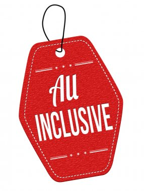 All inclusive label or price tag