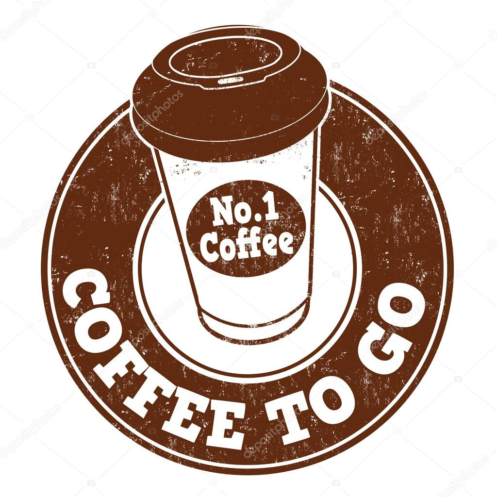 Coffee to go stamp stock vector roxanabalint 79814552 for Coffee to go