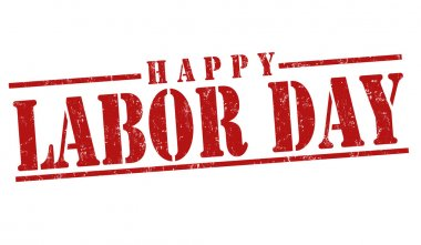 Happy Labor day stamp