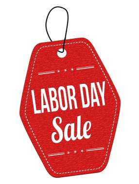 Labor day sale label or price tag