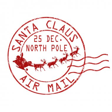 Santa Claus air mail stamp