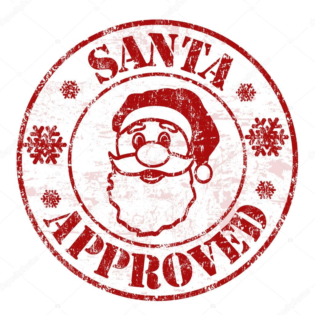 Santa Approved Stamp Stock Vector 169 Roxanabalint 85463206